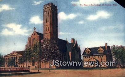 St. Mary's Cathedral - Laramie, Wyoming WY Postcard