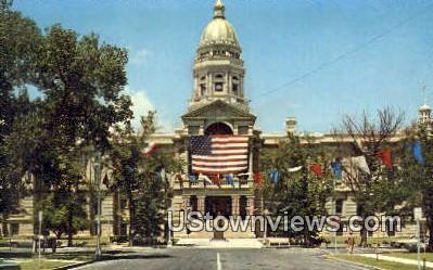 Wyoming State Capitol - Cheyenne Postcard