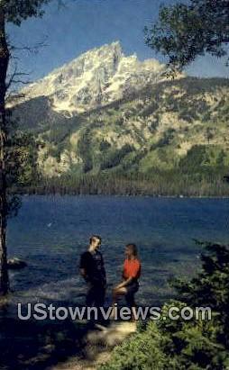 Mt. Teewinot, Jenny Lake - Grand Teton National Park, Wyoming WY Postcard