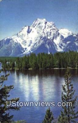Mt. Moran - Jackson Lake, Wyoming WY Postcard