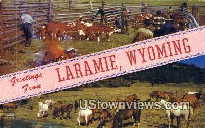 Laramie, Wyoming, WY Postcard