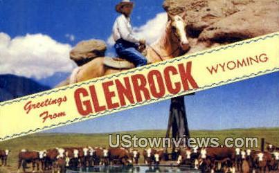 Glenrock, Wyoming, WY Postcard