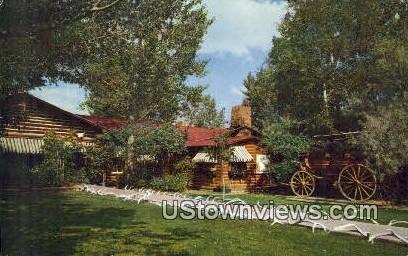 Court Yard, Buffalo Bill Museum - Cody, Wyoming WY Postcard