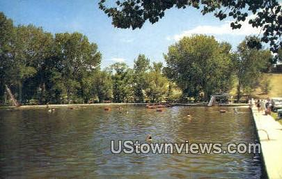Municipal Swimming Pool - Buffalo, Wyoming WY Postcard