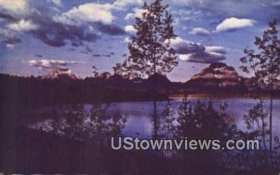 Jackson Lake, Wyoming, WY Postcard