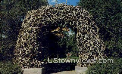 Arch, Elk Horns - Jackson Hole, Wyoming WY Postcard
