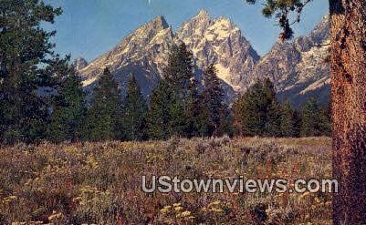 Grand Teton Peak - Grand Teton National Park, Wyoming WY Postcard
