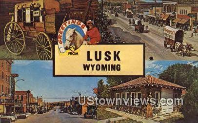 Lusk, Wyoming, WY Postcard
