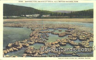 Sapphire Pool & Biscuit Basin - Yellowstone National Park, Wyoming WY Postcard