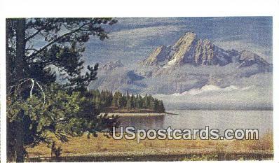 Mt Moran - Grand Teton National Park, Wyoming WY Postcard