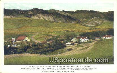 Dude Ranch - Big Horn Mountains, Wyoming WY Postcard