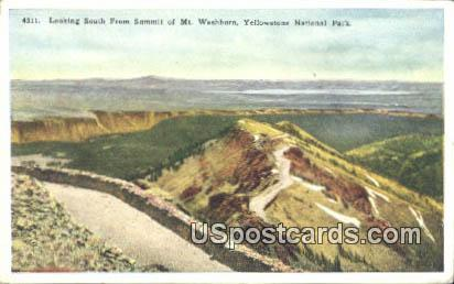 South from Summit, Mt Washburn - Yellowstone National Park, Wyoming WY Postcard