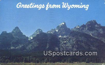 Grand Teton Range - Jackson Hole, Wyoming WY Postcard