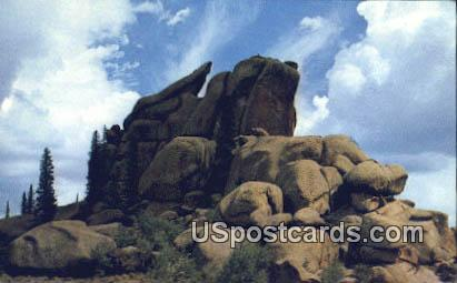 Rocks of Vedau Woo - Cheyenne, Wyoming WY Postcard