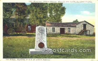 Monument, Prairie Schooner - Fort Bridger, Wyoming WY Postcard