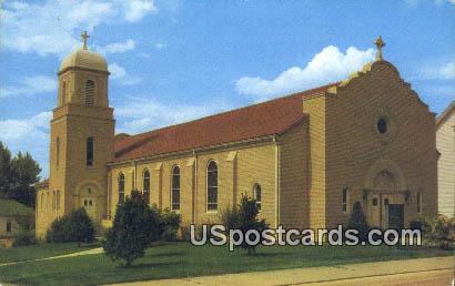 Corpus Christis Catholic Church - New Castle, Wyoming WY Postcard