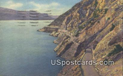 Lake Shore Drive - Yellowstone National Park, Wyoming WY Postcard