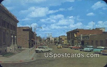 Cedar Street - Rawlins, Wyoming WY Postcard