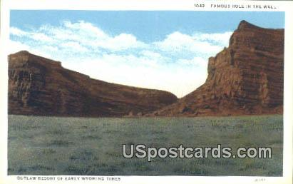 Hole in the Wal - Outlaw Resort, Wyoming WY Postcard