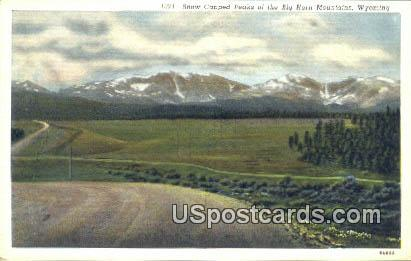Snow Capped Peaks - Big Horn Mountains, Wyoming WY Postcard