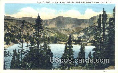 Seven Brothers Lake - Big Horn Mountains, Wyoming WY Postcard