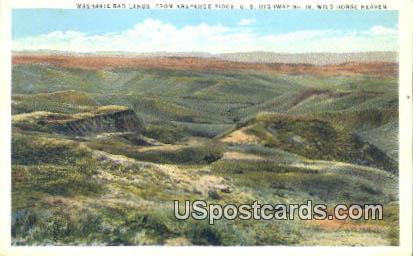 Washakie Bad Lands - Araphahoe Ridge, Wyoming WY Postcard