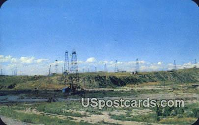 Oil Field - Central Wyoming Postcards, Wyoming WY Postcard