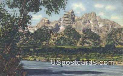 Tetons, Snake River - Jackson Hole, Wyoming WY Postcard