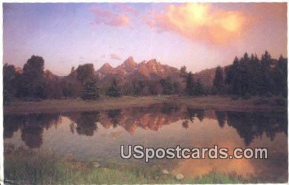 Teton Range - Grand Teton National Park, Wyoming WY Postcard