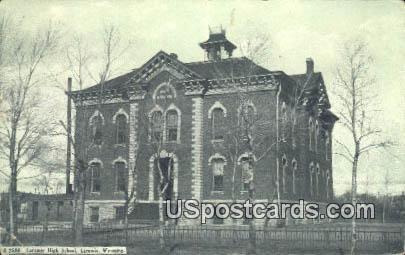 Laramie High School - Wyoming WY Postcard