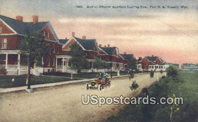 Row of Officers' Quarters - Russell, Wyoming WY Postcard