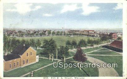 Fort DA - Russell, Wyoming WY Postcard