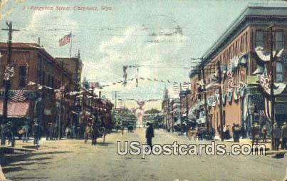 Ferguson Street - Cheyenne, Wyoming WY Postcard