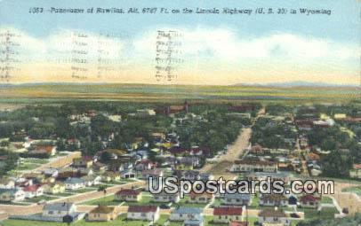 Lincoln Highway - Rawlins, Wyoming WY Postcard