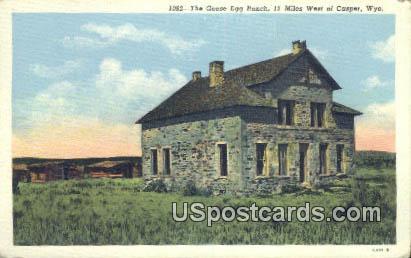 Goose Egg Ranch - Casper, Wyoming WY Postcard