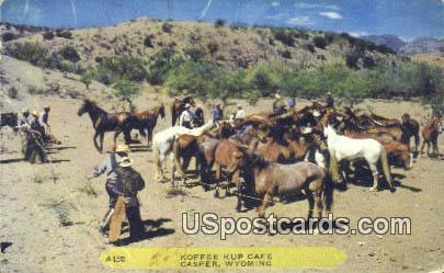 Koffee Kup Caf» - Casper, Wyoming WY Postcard