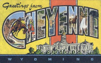 Cheyenne, Wyoming Postcard      ;      Cheyenne, WY