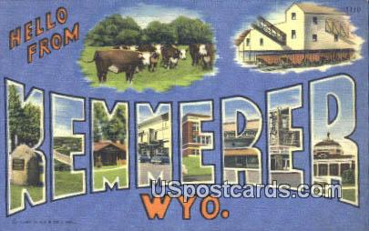 Kemmerer, WY Postcard       ;      Kemmerer, Wyoming