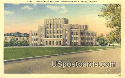 Liberal Arts Building, U of Wyoming - Laramie Postcard