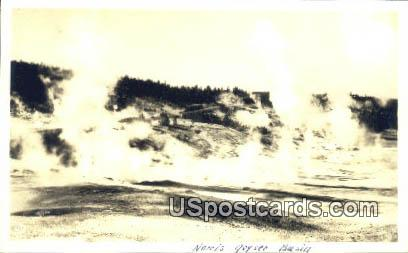 Real Photo - Norris Geyser Basin, Wyoming WY Postcard