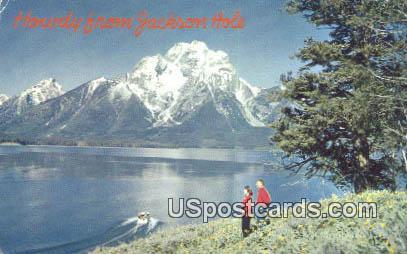 Jackson Lake - Mount Moran, Wyoming WY Postcard