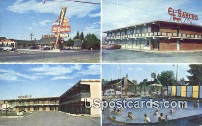 El Rancho Lodge - East Rock Springs, Wyoming WY Postcard