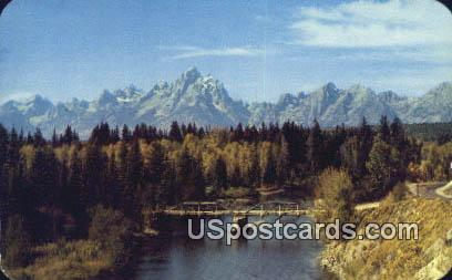 Teton Range - Jackson Hole, Wyoming WY Postcard