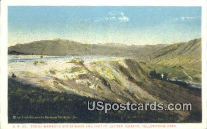 Mammoth Hot Springs - Yellowstone Park, Wyoming WY Postcard
