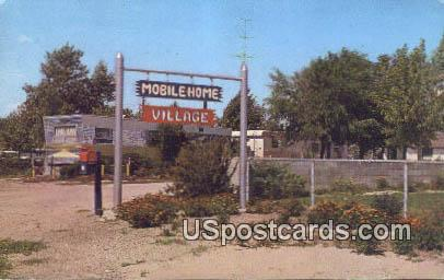 Mobile Home Village - Cheyenne, Wyoming WY Postcard