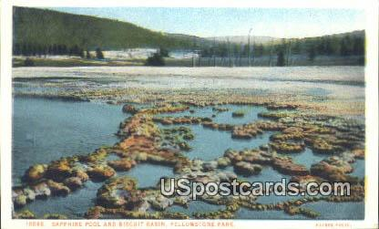 Sapphire Pool & Biscuit Basin - Yellowstone Park, Wyoming WY Postcard