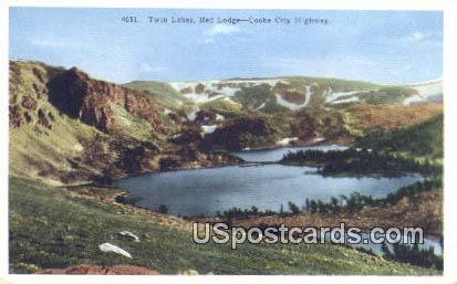 Red Lodge, Cooke City Highway - Twin Lakes, Wyoming WY Postcard