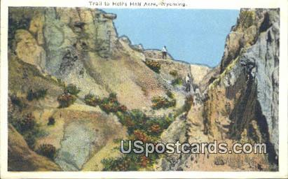 Trail - Hells Half Acre, Wyoming WY Postcard