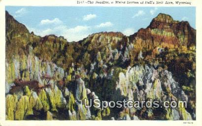 The Needles - Hells Half Acre, Wyoming WY Postcard