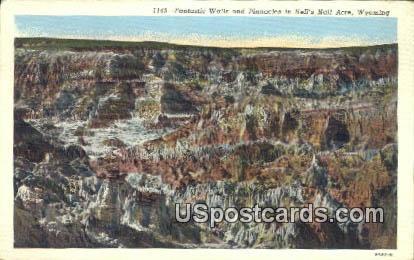 Fantastic Walls, Pinnacles - Hells Half Acre, Wyoming WY Postcard